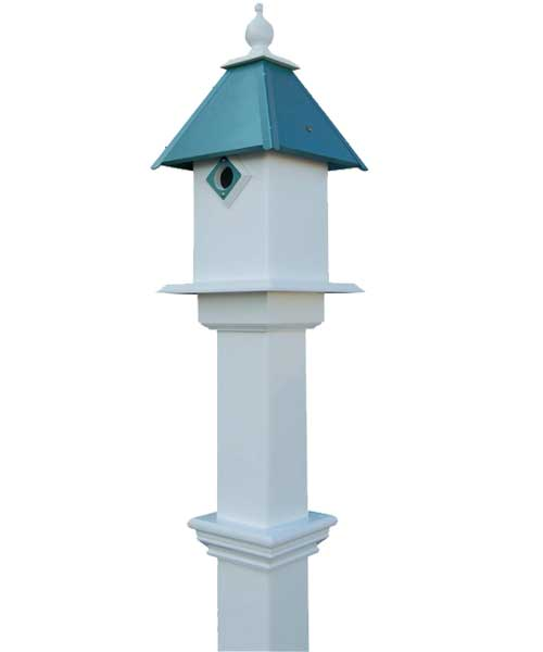 Best Nest classic bluebird house and decorative mounting post package