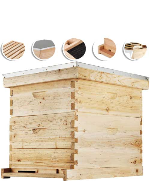 Happybuy Bee Hive Langstroth Wooden Beehive Kit