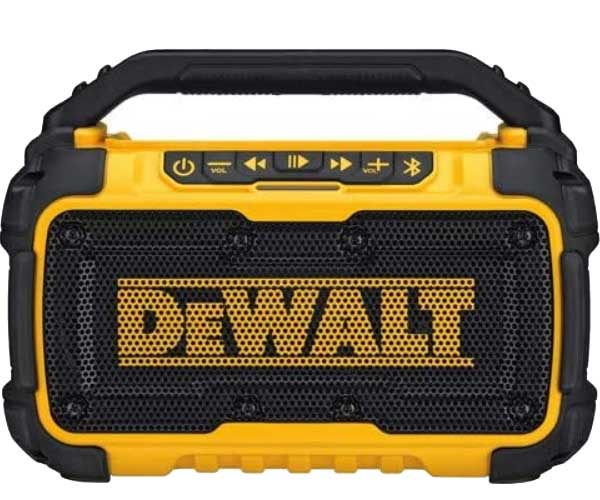 DEWALT 20V MAX Bluetooth Speaker for Jobsite
