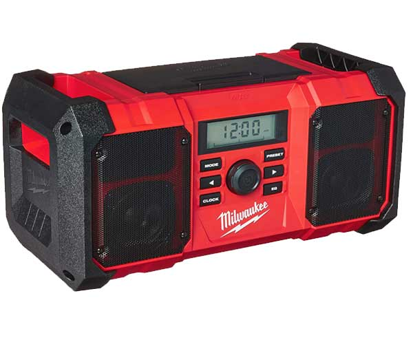Milwaukee 2890-20 18V Dual Chemistry M18 Jobsite Radio with Shock Absorbing End Caps