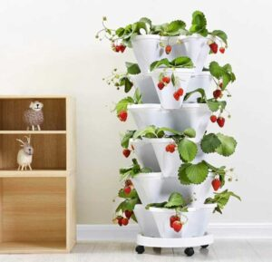 5 Tier Planter Stackable, FOME 5 Tier Strawberry Herb Garden Planter